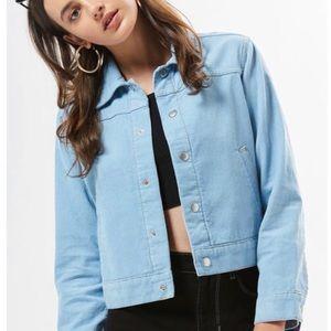 PacSun Womens Baby Blue Corduroy Trucker Jacket